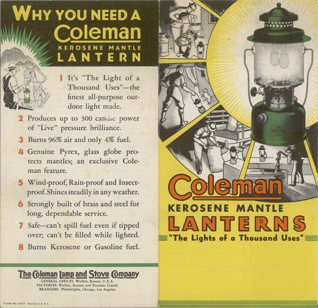 Perfect For the Apocalypse: Coleman White Gas Lanterns – Hand-Eye Supply