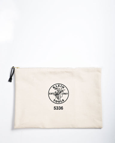 "Klein Tools 12"" Canvas Zipper Bag Natural"