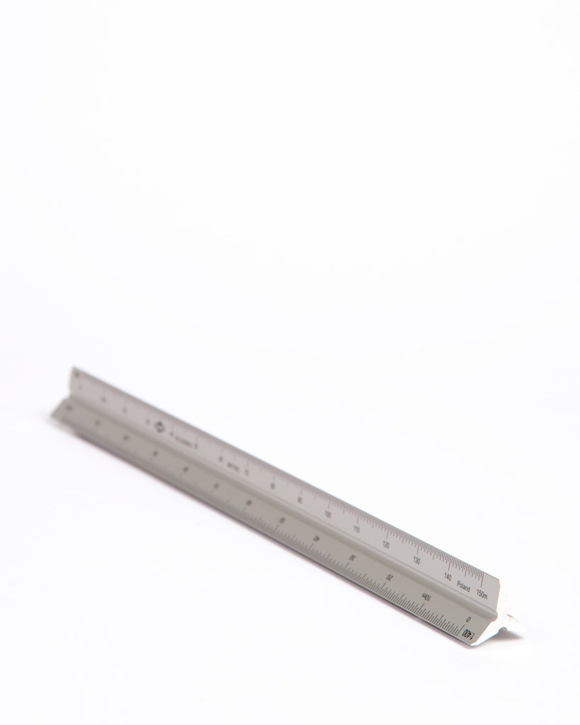 Aluminum Architectural Triangle Scale - Metric