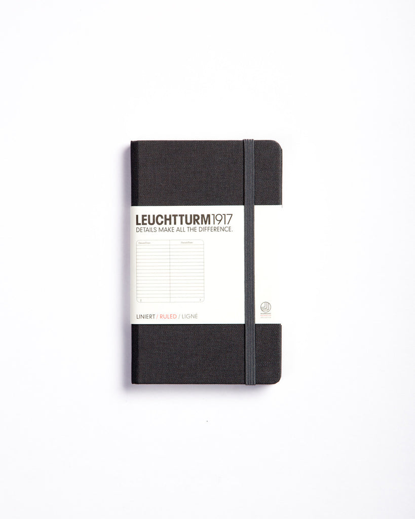 Leuchtturm 1917 Hard Cover Linen Notepad Grey Ruled