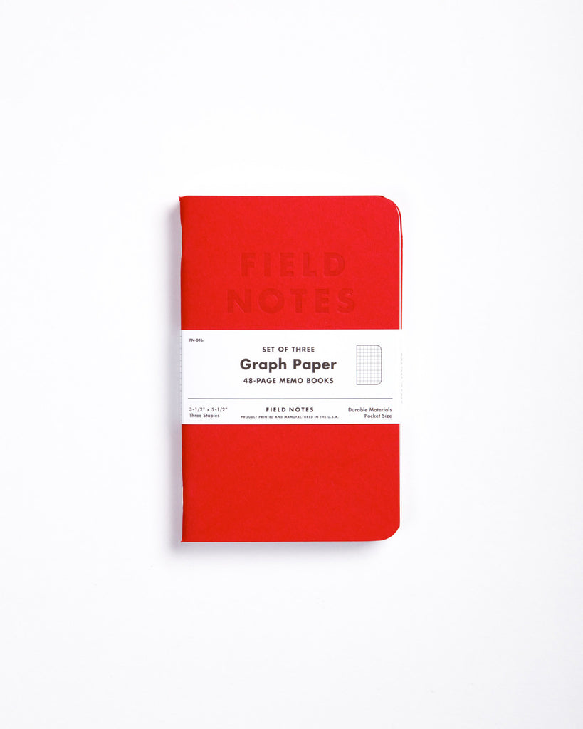 Field Notes Pack of 3 - Red Blooded