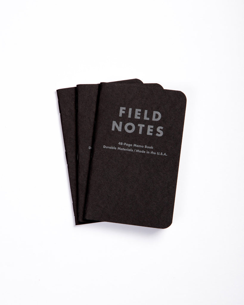 Field Notes Pack of 3 - Pitch Black Edition