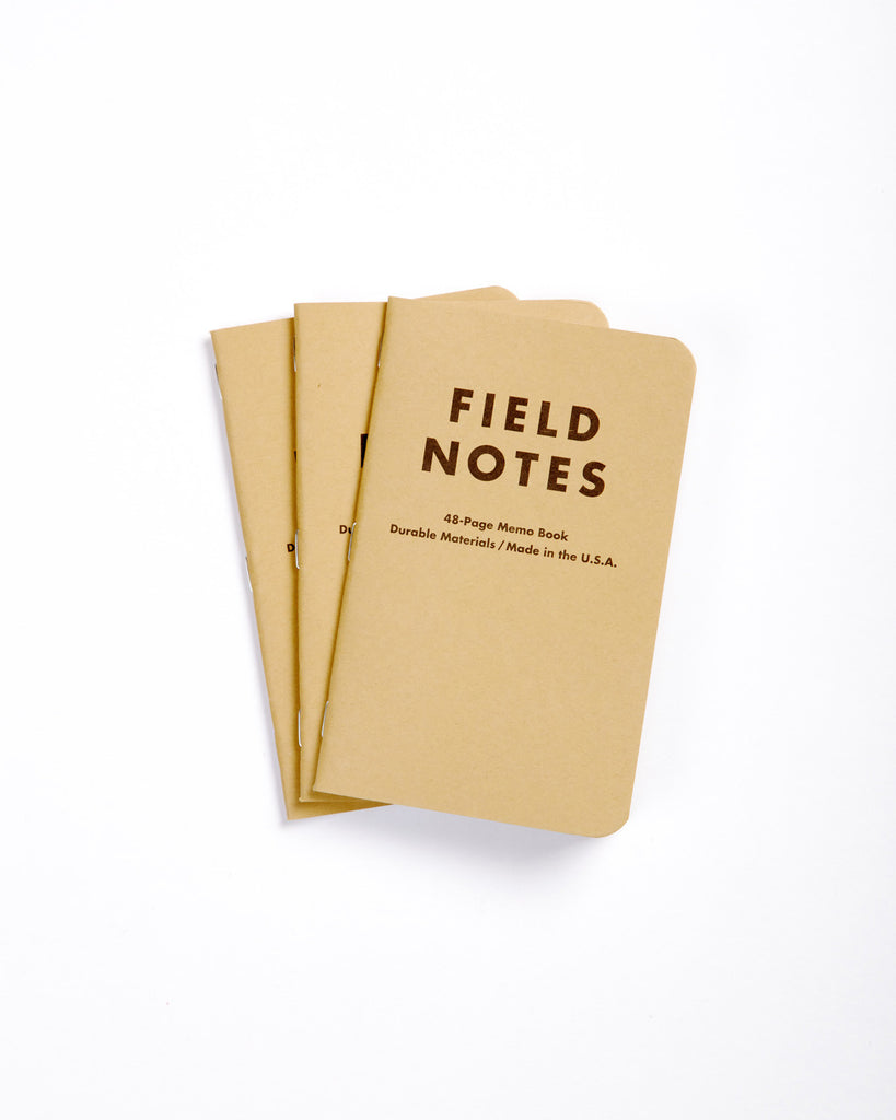 Field Notes Pack of 3 - Blank