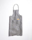 Fog Linen Wide Stripe Work Apron