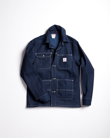 Harrow Town Cotton Over Coat Navy