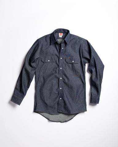 Pointer Denim Shawl Collar Chore Coat