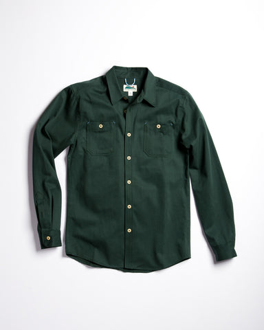 Vetra Striped Linen Work Shirt Hydrone