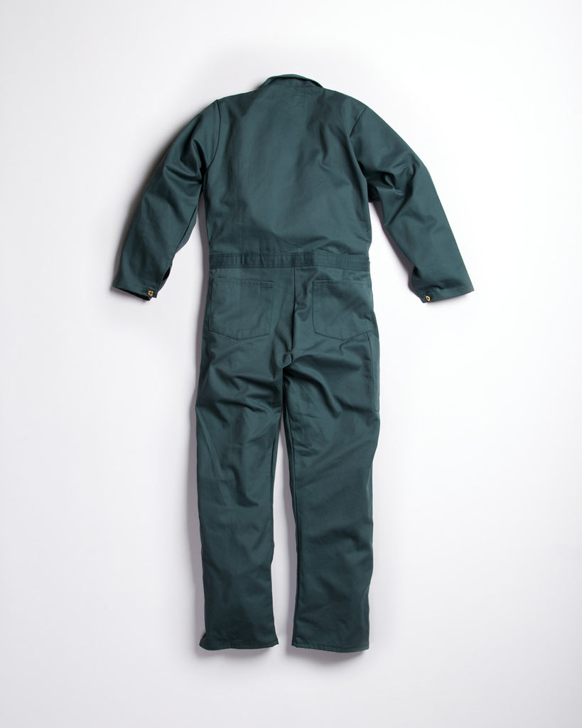 Universal Cotton Coveralls Spruce Green Button
