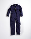 Universal Cotton Coveralls Navy Blue Button