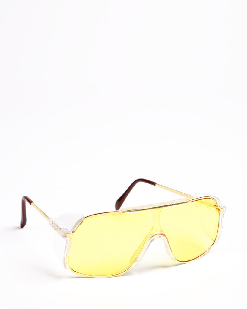 Panaview Amber Safety Spectacles Gold Frame
