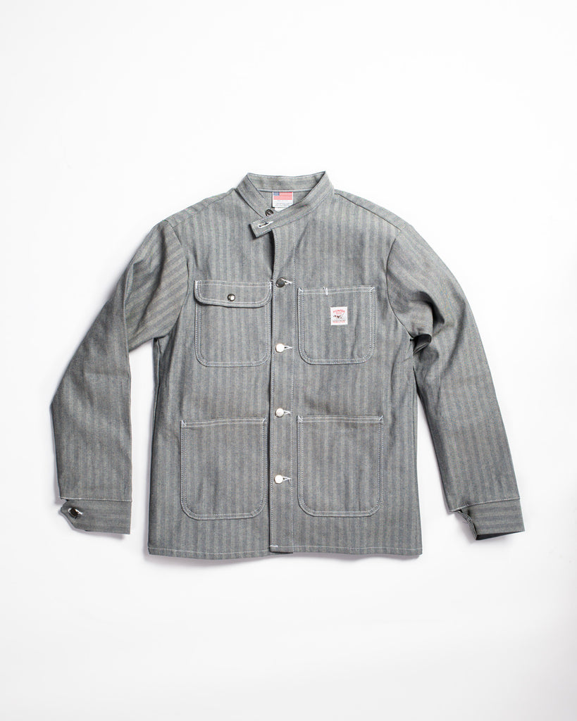 Pointer Brand Special Make Banded Collar Jacket Fisher Stripe