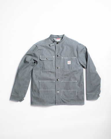 Pointer Black Label Washed Chore Coat Indigo Denim