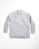 Ben Davis Long Sleeve Hickory Stripe Shirt - Button Front