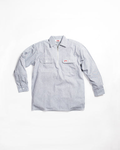 Fog Linen Jill Work Shirt Chambray Stripe