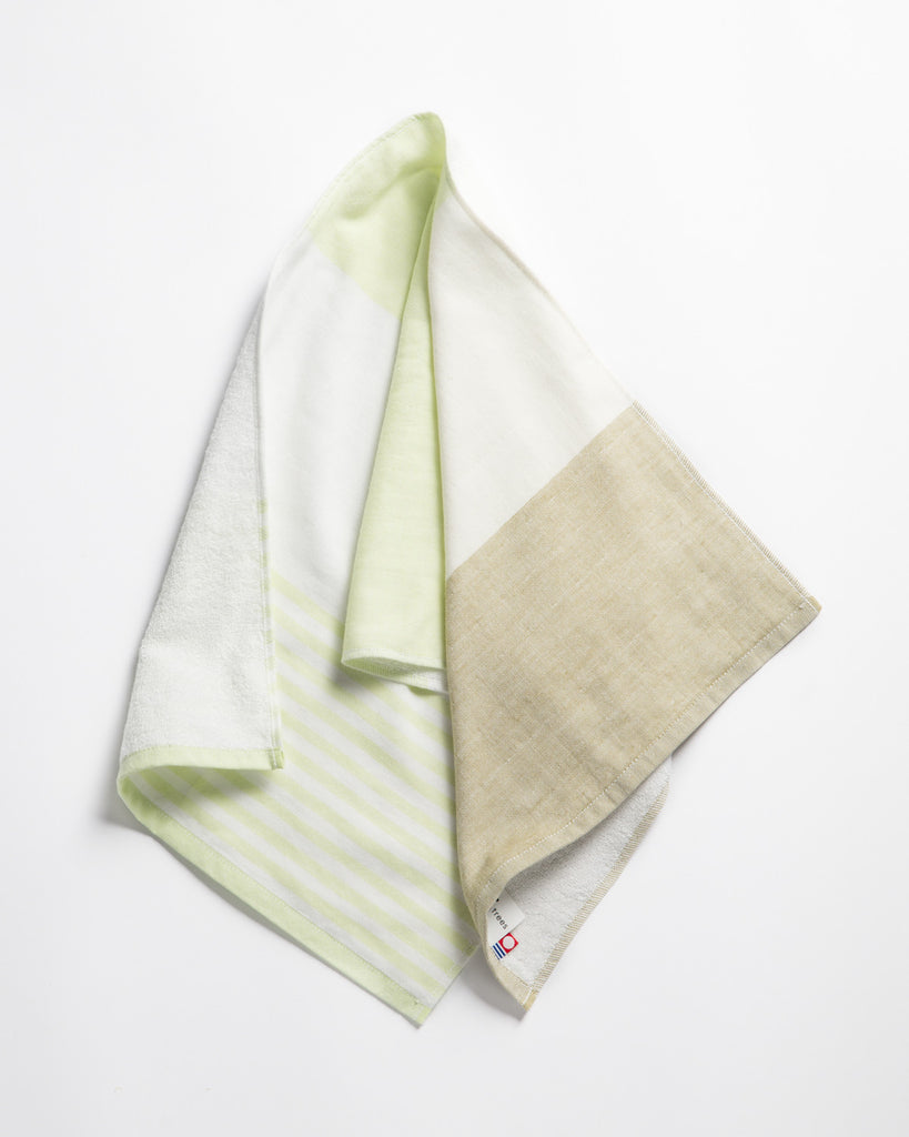 Yoshii Tri-Color Chambray Hand Towel