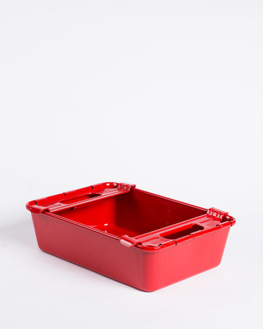 Pioneer Pent Roof Tool Box with Tray Red