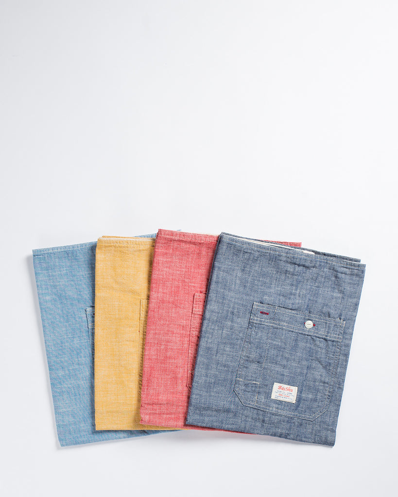 BasShu Normal Apron Solid Chambray