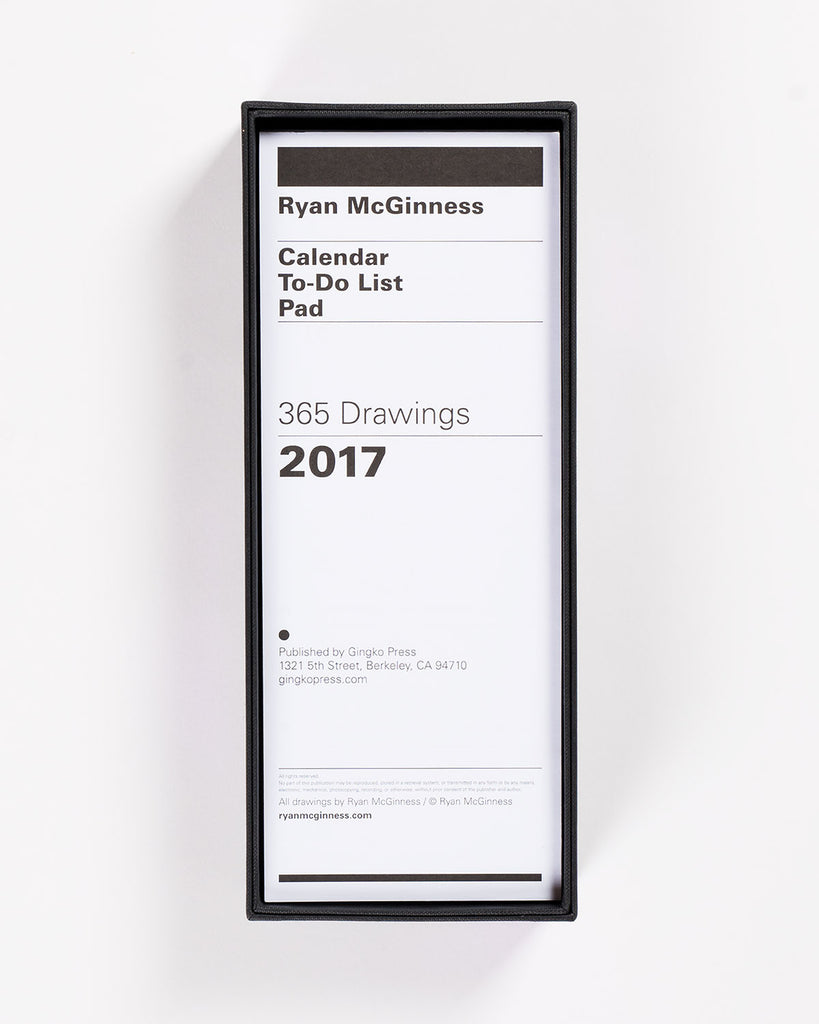 Ryan McGinness To-Do List Calender 2017