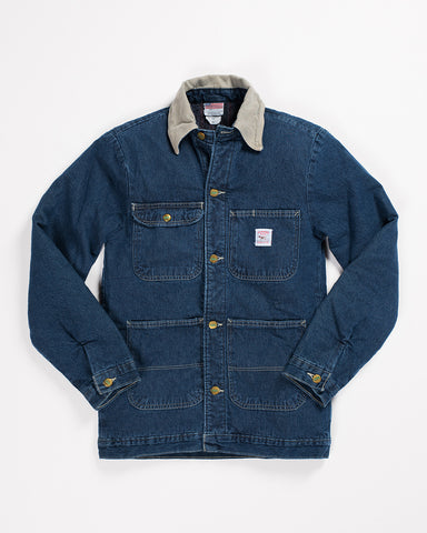 Pointer Brand White Drill Denim Chore Coat