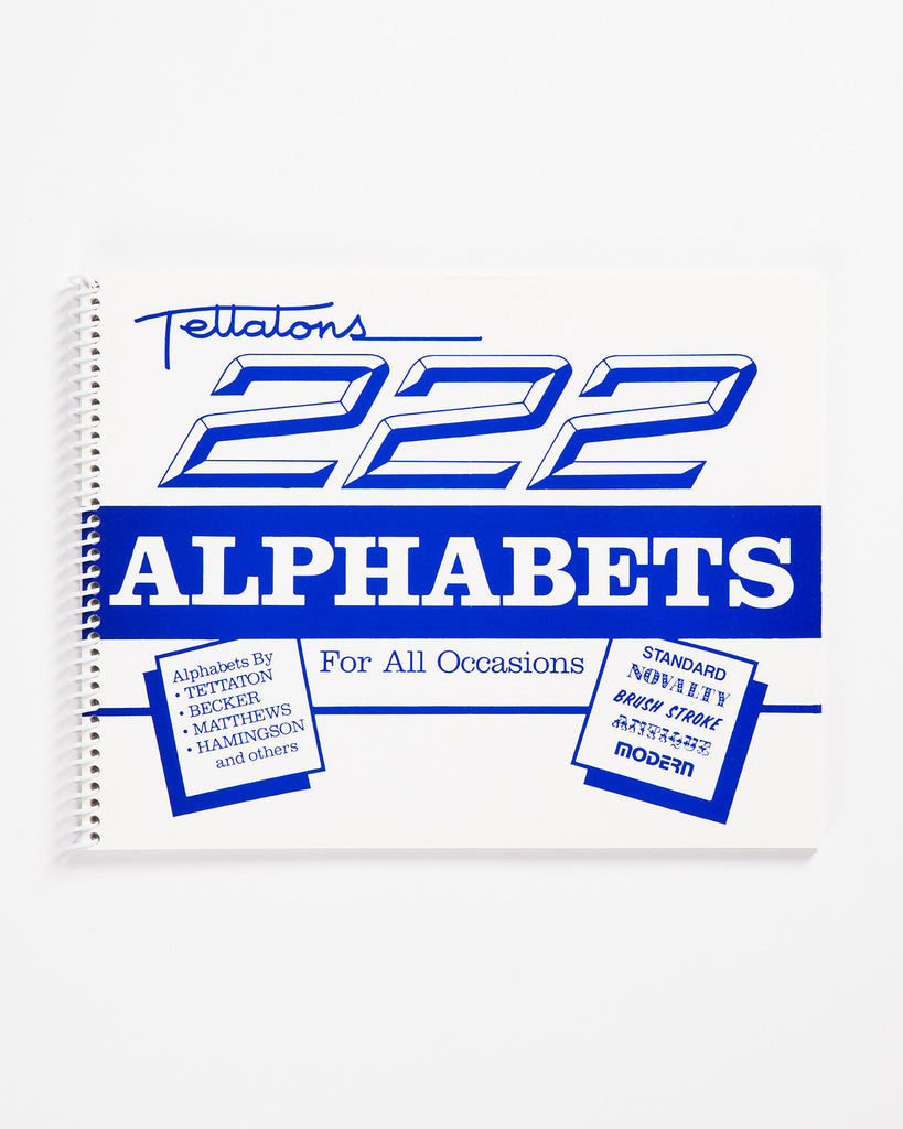 222 Alphabets for All Occasions by Lonnie Tettaton