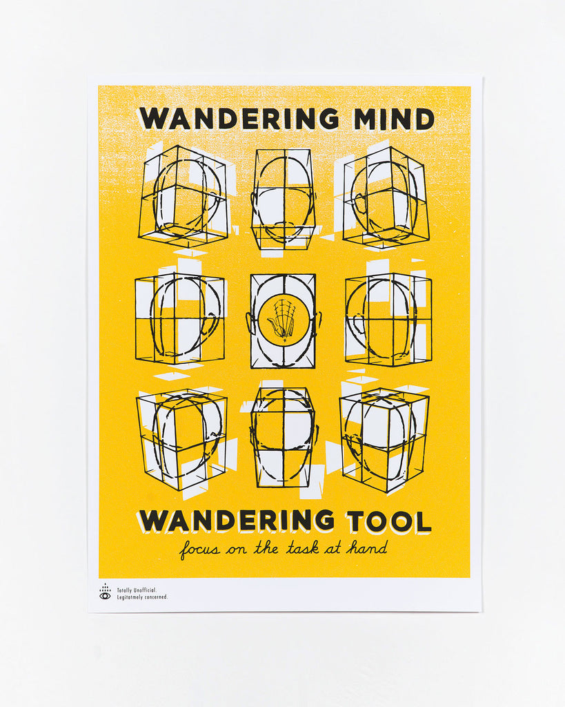 Wandering Mind Safety Poster by Lyndsey Lee Faulkner