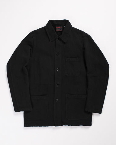 Armen Moleskin Work Coat Navy