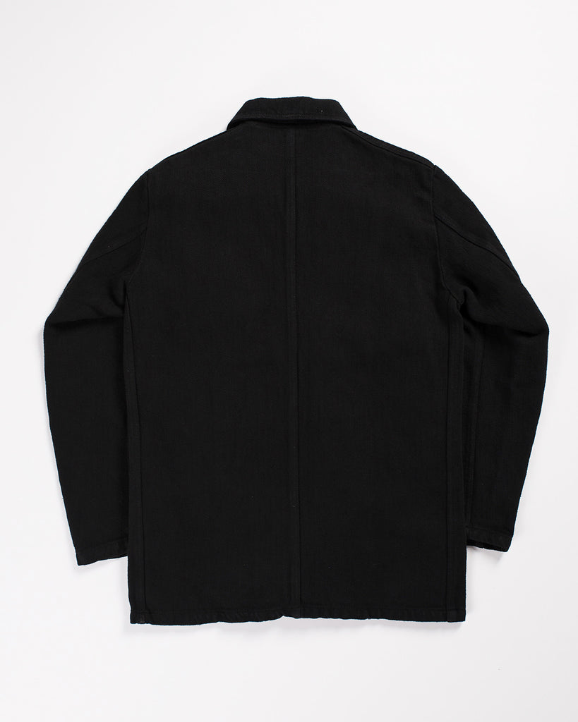 Vetra Work Jacket Overdyed Black Herringbone