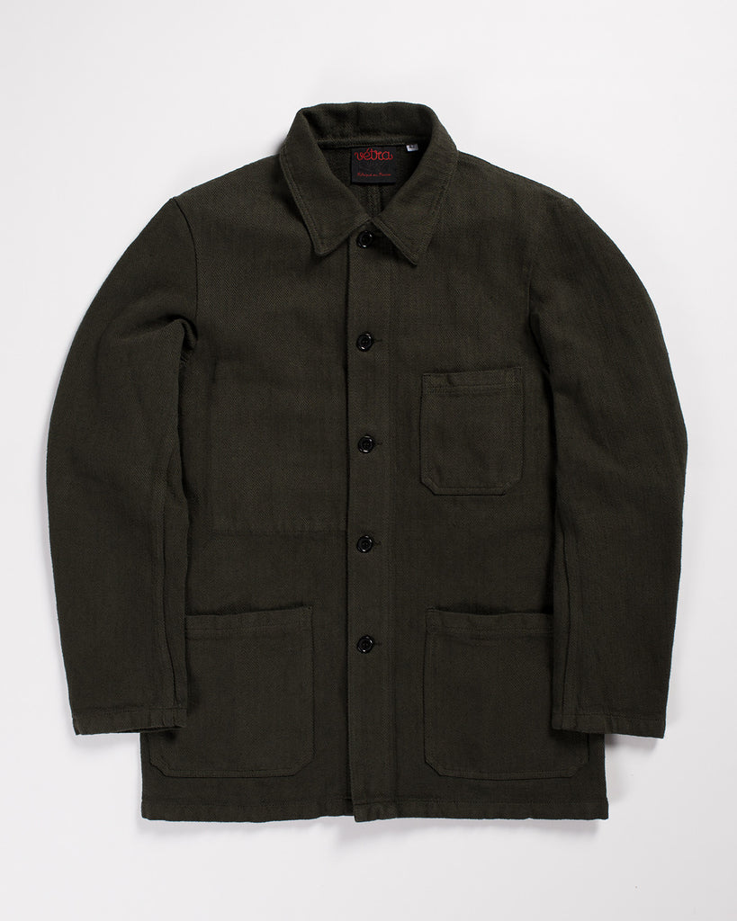 Vetra Work Jacket Overdyed Khaki Herringbone