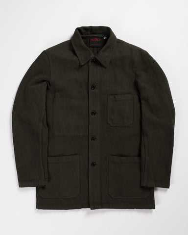 Pointer Brand Washed Denim Chore Coat