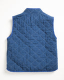 Utility Canvas Snap Vest Navy