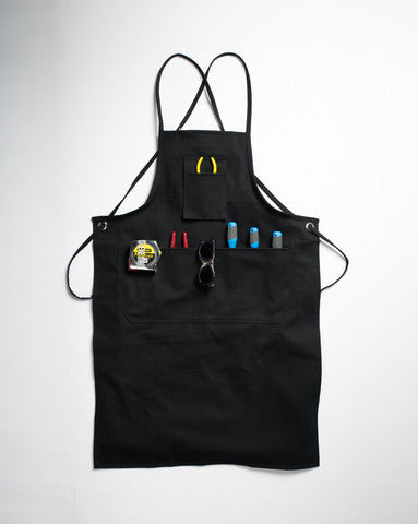 Spectacular Apron Combo - Black Canvas Work Apron + Clear Safety Spectacle