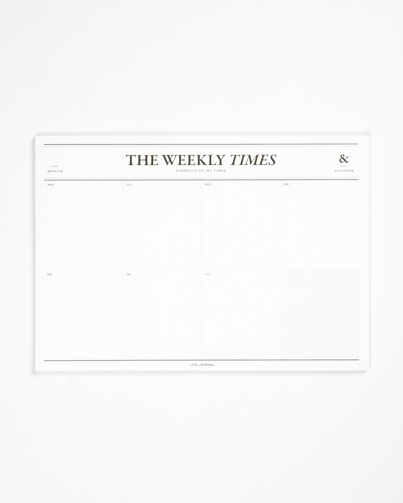Times Desk Notepad Weekly
