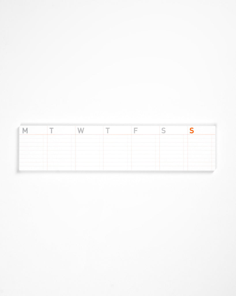 Stick-Up Weekly Calendar