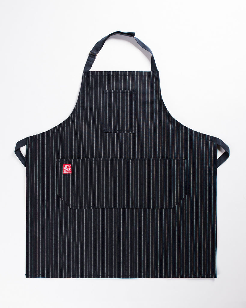 Hand-Eye Kitchen Apron Midnight Twill Stripe