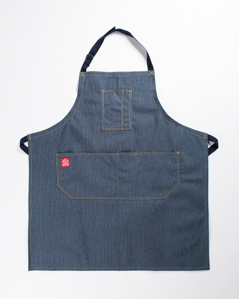 ... Hand Eye Kitchen Apron Navy Ticking ...