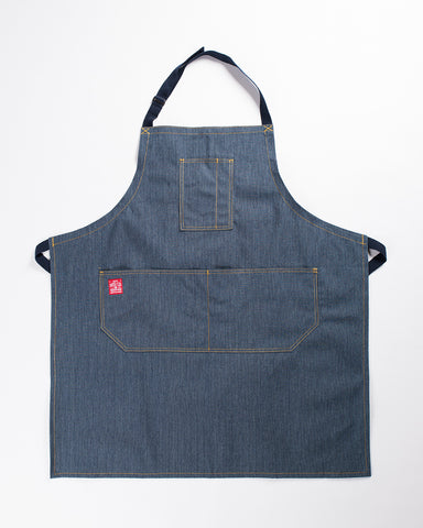 Hand-Eye USA Made Kitchen Apron Navy Stripe
