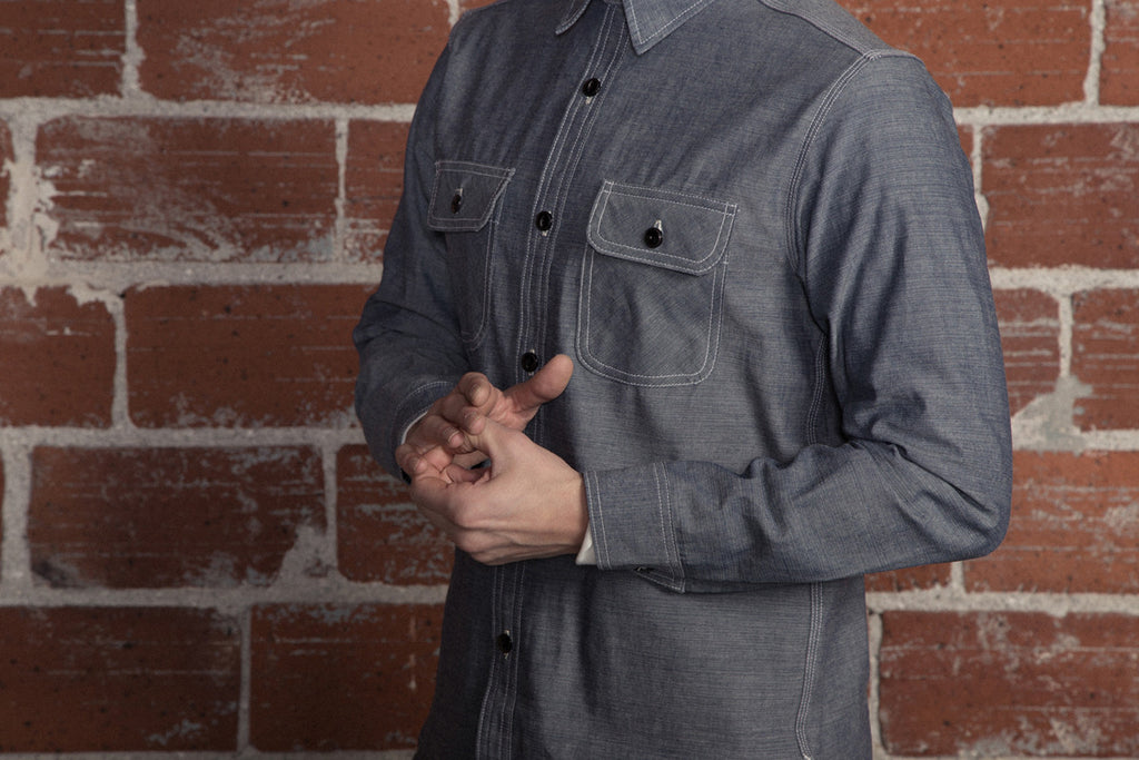 Five Brother Heavy Chambray Work Shirt Black
