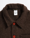 Le Laboureur Wool Work Jacket Brown