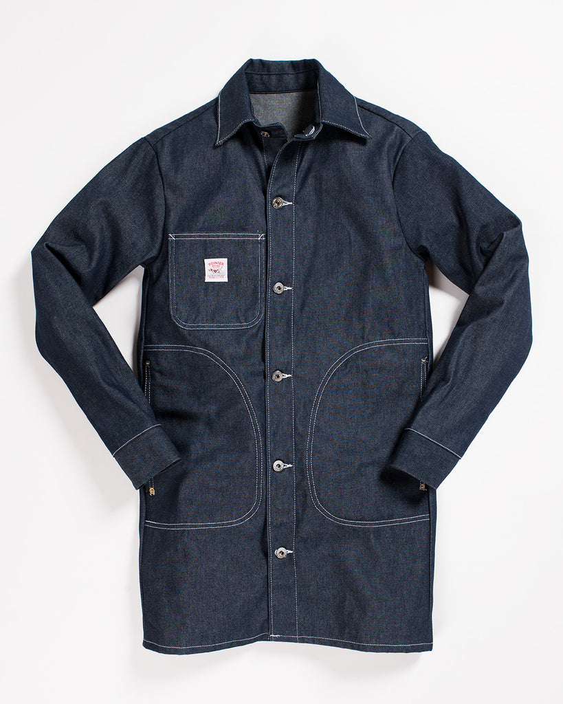 Pointer Long Jacket Indigo Denim