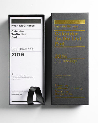 Ryan McGinness 2016 To Do List Calendar