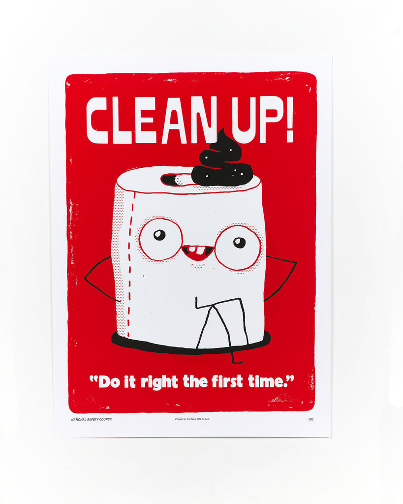 Clean Up Safety Poster by Brad Simon