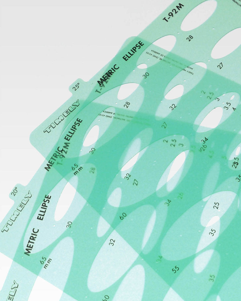 Timely Ellipse Templates Metric - Small Set of 10