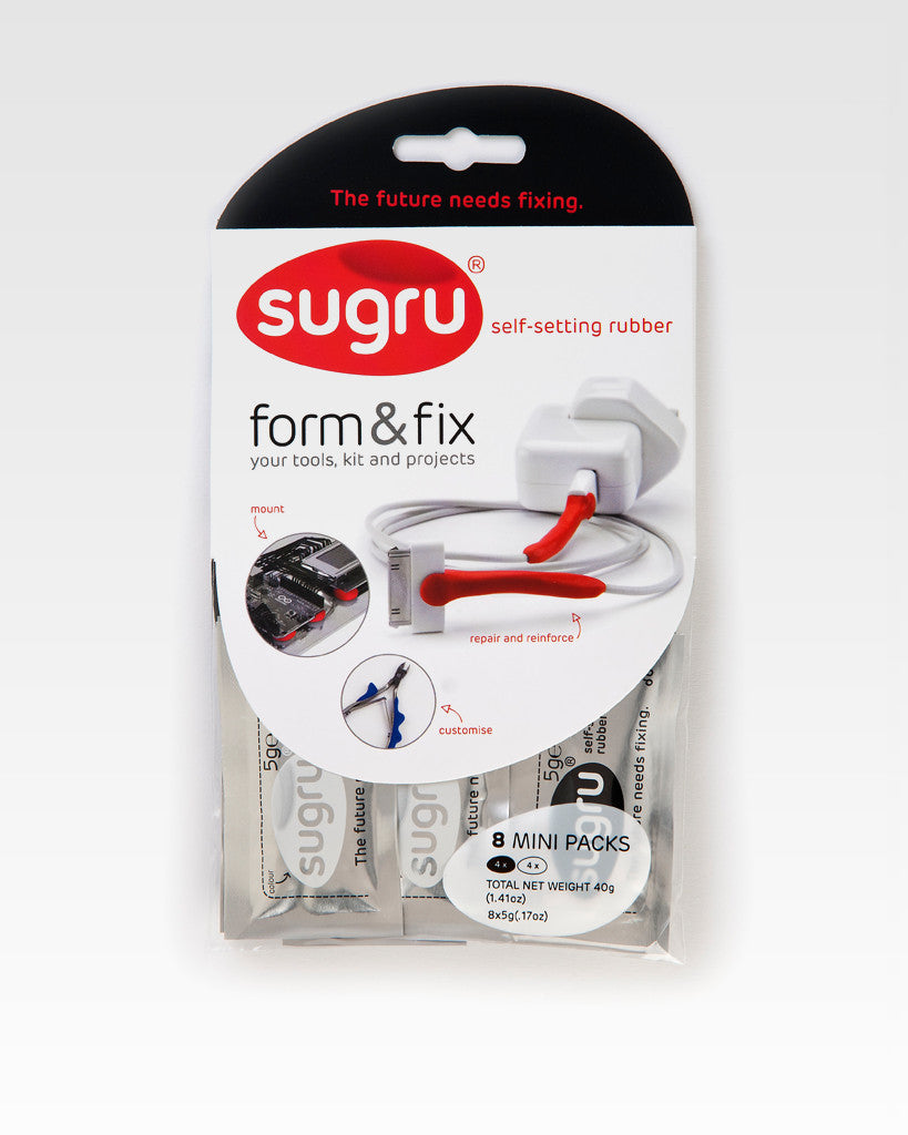 Sugru Black and White Pack of 8