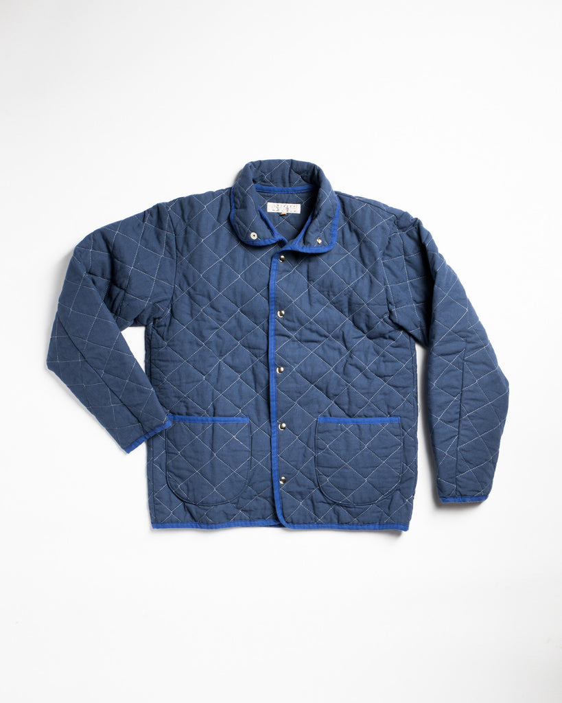 Utility Canvas Snap Jacket Navy
