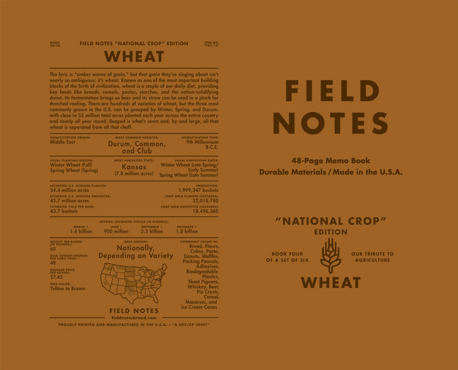 Field Notes Pack of 6 - National Crop Edition