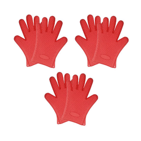 (3 Pack) Heat-Resistant Gloves