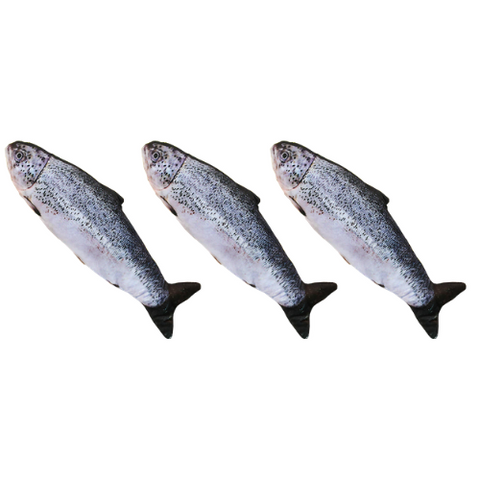 3 Pack- Electric Cat Fish Toy