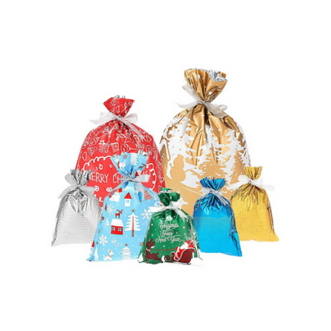 7 Pack- Christmas Bags