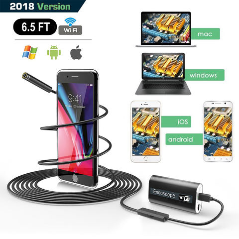 (5PK) (Z) Wifi iOS & Android Endoscope Inspection Camera
