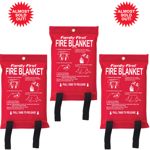 (3PK) Fire Emergency Blanket